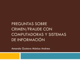 Preguntas sobre crimen/fraude con computadoras y …
