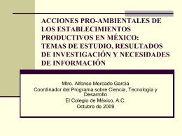 ACCIONES PRO-AMBIENTALES DE LOS …