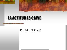 LA ACTITUD ES CLAVE