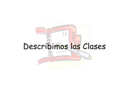 Describimos las Clases