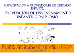 Child Care Lead Poisoning Prevention