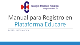 Manual para Registro en Plataforma Educare