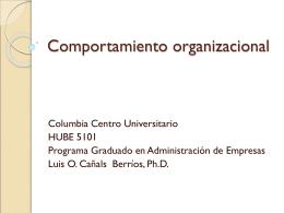 Conducta organizacional y relaciones humanas