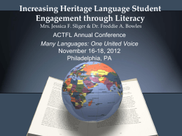 Common Core & World Languages