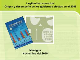 Legitimidad municipal - IEEPP | Instituto de Estudios