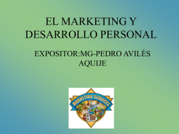 EL MARKETING Y DESARROLLO PERSONAL