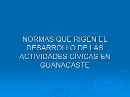 NORMAS QUE RIGEN EL DESARROLLO DE LAS …