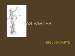 LAS PARTES - Derecho-Semestre III | Universidad