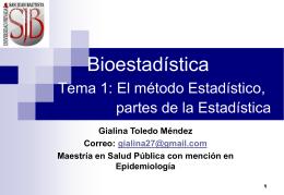 Tema 1: EL METODO ESTADISTICO, PARTES DE LA …