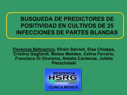 EPIDEMIOLOGIA DE INFECCIONES DE PARTES BLANDAS …
