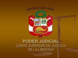 PODER JUDICIAL CORTE SUPERIOR DE JUSTICIA DE LA …