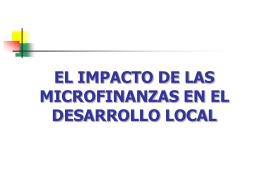 EL IMPACTO DE LAS MICROFINANZAS EN EL …