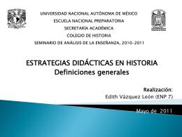 Diapositiva 1 - Colegio de Historia P9