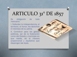 CONSTITUCION DE 1857