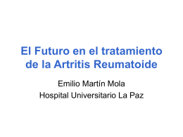 El Futuro en el tratamiento de la Artritis Reumatoide