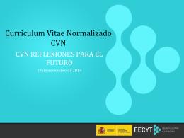 CVN. Un servicio para el investigador