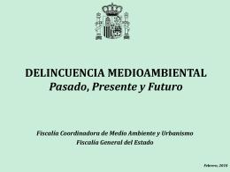 DELINCUENCIA MEDIOAMBIENTAL Presente y Futuro