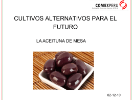 CULTIVOS ALTERNATIVOS PARA EL FUTURO