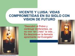 VICENTE Y LUISA: VIDAS COMPROMETIDAS EN SU SIGLO …