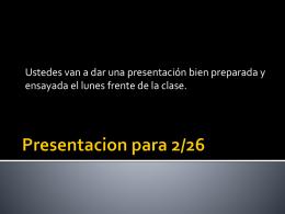 Presentacion para 10/7