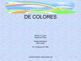 DE COLORES - Lucerito's Music