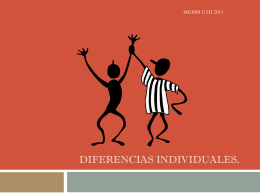 DIFERENCIAS INDIVIDUALES.