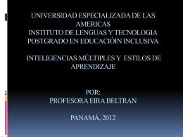 UNIVERSIDAD INTERAMERICANA CONFERENCIA LAS …