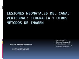 LESIONES NEONATALES DEL CANAL VERTEBRAL: …