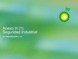 Anexo H Seguridad Industrial