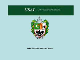 Diapositiva 1 - USAL Servicios