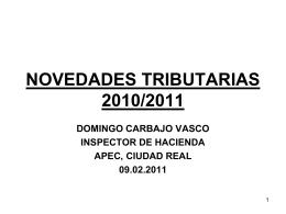 NORMAS TRIBUTARIAS EN LA LPGE 2011