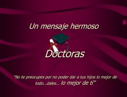 Doutoras - ESCUELA DE FAMILIAS