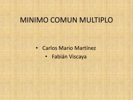 MINIMO COMUN MULTIPLO