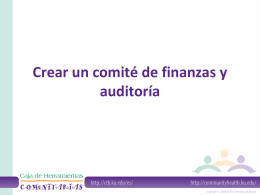Creating a Financial and Audit Committee