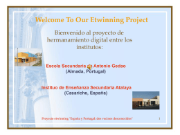 Welcome To Our Etwinning Project