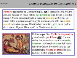 UNIDAD PERSONAL DE JESUCRISTO, 1