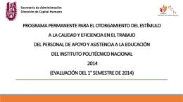 PROCESO DE CALIDAD Y EFICIENCIA 2014