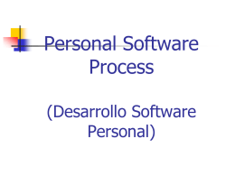 Desarrollo Software Personal