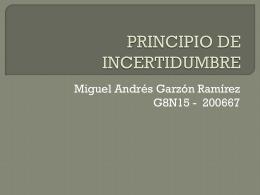 PRINCIPIO DE INCERTIDUMBRE - metodolea