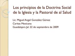 Los principios de la Doctrina Social de la Iglesia y la