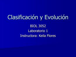 Clasificacion y Evolucion