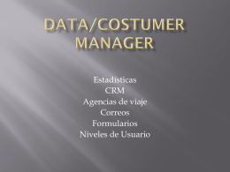 Data/Costumer Manager