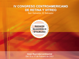 IV CONGRESO CENTROAMERICANO DE RETINA San …