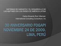 30 ANIVERSARIO FOGAPI NOVIEMBRE 24 DE 2009.
