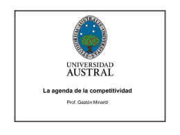 La agenda de la competitividad