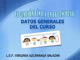 DATOS GENERALES DEL CURSO