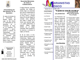 Diapositiva 1 - The Marianists - Marianist Province of the