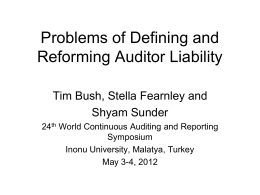 Auditor Liability without Regulatory Prescription