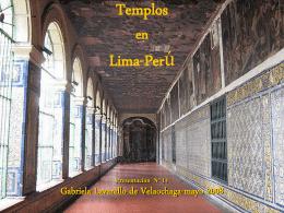 TEMPLOS en LIMA -PERU