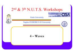 4- Waves - Istituto Nazionale di Fisica Nucleare